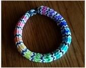 Mexican Blanket - Rainbow Hexafish | Rainbow Loom Bracelet