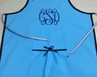 Monogrammed Apron. Embroidered Apron. Personalized Apron. Personalized Gift. Women's Apron. Kitchen Apron.