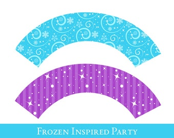 Frozen Cupcake wrappers, cupcake wrapper printable, cupcake label printable, Princess Party Printable, Princess Party Decorations
