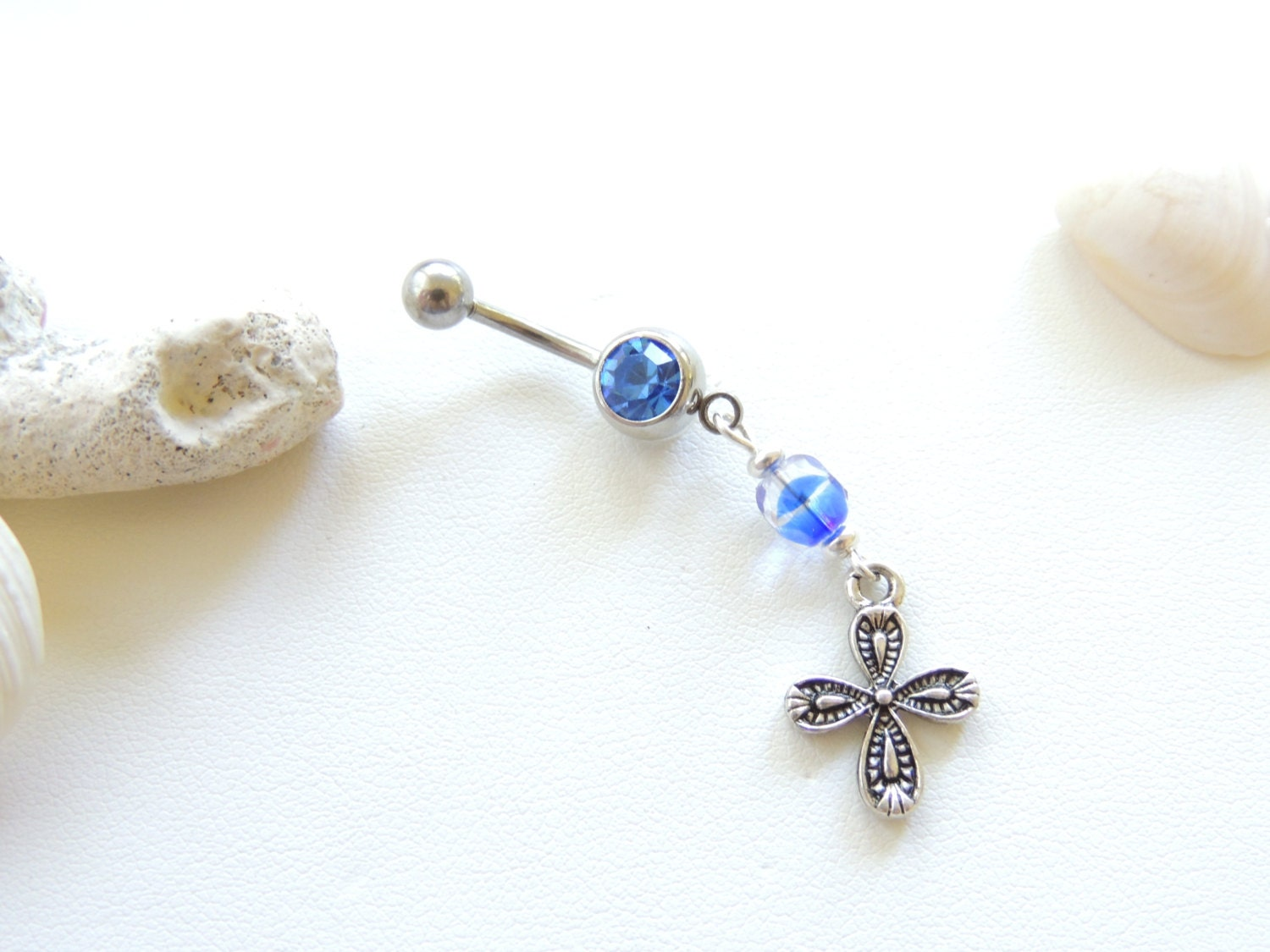 Cross belly button ring-7007