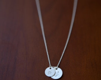 2 charm necklace// 9mm & 11mm