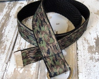 Camo Belt, Camouflage Boys Belt, Baby Belt, Infant Belt, Baby Boy Belt D-ring closure, Baby Boy Clothing, Infant Clothing