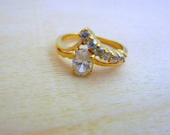 Birthstone ring - gold filled ring delicate ring ,gift for her multistone gemstone ring