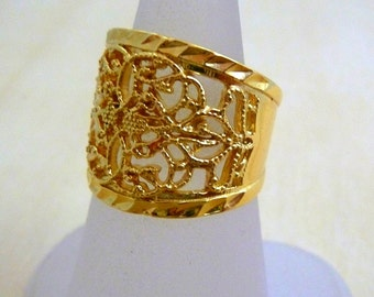 Gold Filled ring handmade jewelry ,floral ring, gold lace ring, rings for women