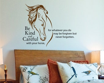 Attirant Horse Head LARGE Wall Decal U2022 Equestrian Decor U2022 Horse  Quote Wall Decal U2022 Horse