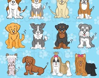 Dog Digital Clipart, Dog Clipart, Dog clip art, Puppy Clipart, Puppy Dog Clipart, Cute Puppy Clipart, Dachshund Clipart