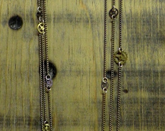 """SOLD Steampunk Rope-Length Clock Gears """"Jessica"""" Necklace *SOLD*"""