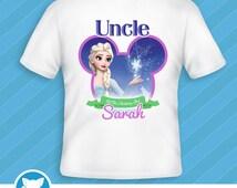 Personalized Frozen Birthday T-Shirt Transfer,Custom Frozen Tshirt Decal,Frozen Birthday Iron On Transfer: Item #FRT-01A