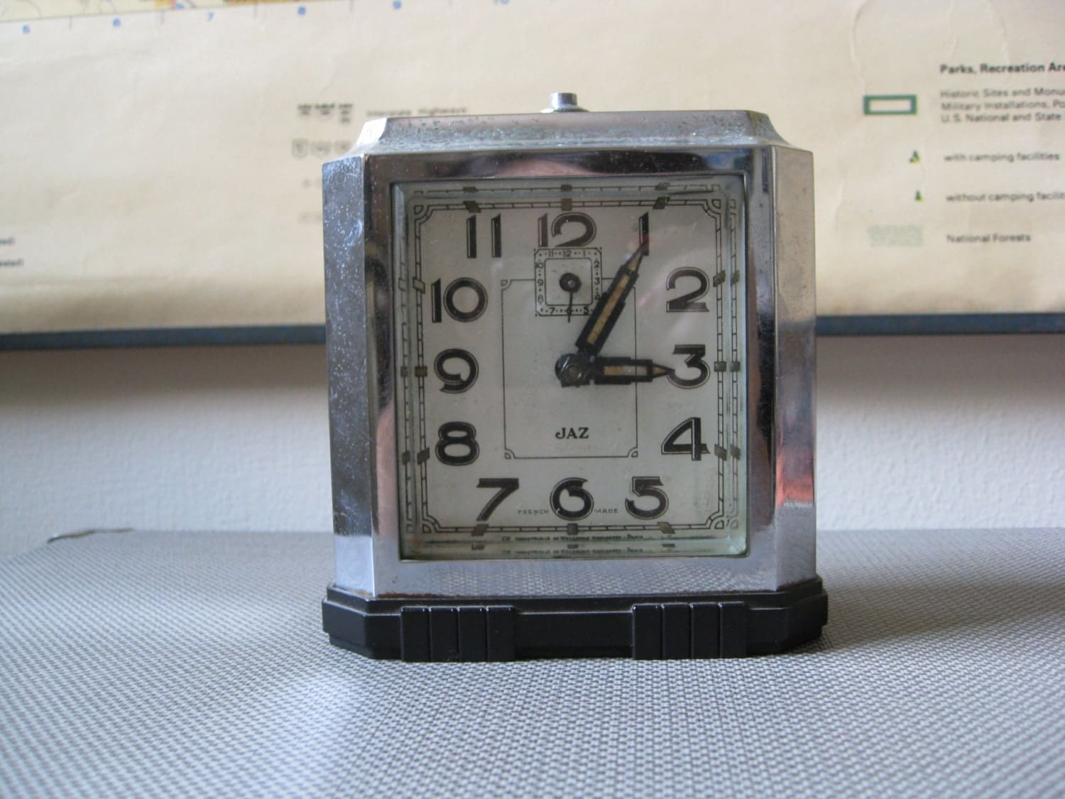 French Art Deco Alarm Clock Jaz Brand