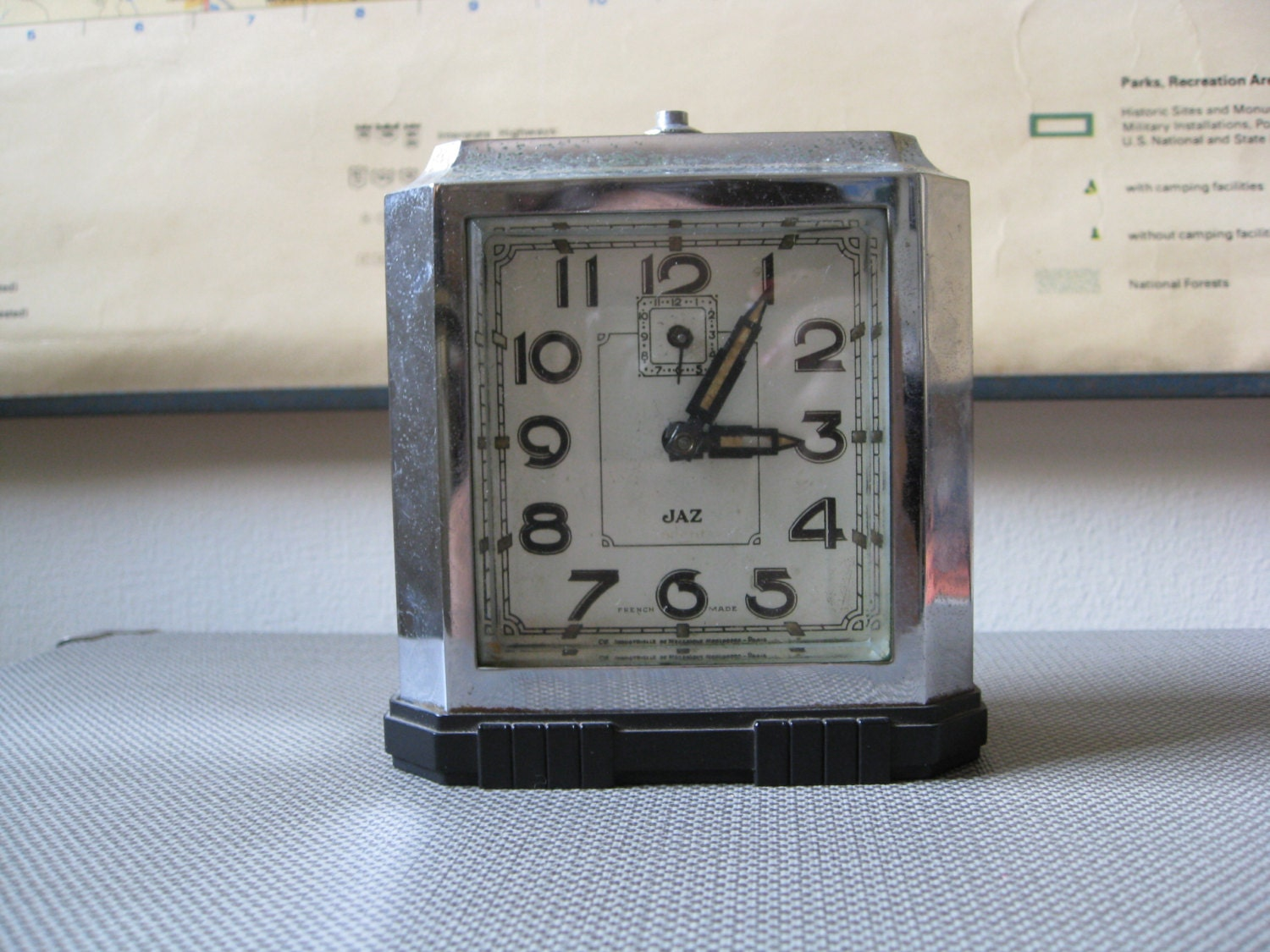 French art deco alarm clock jaz brand Art deco alarm clocks