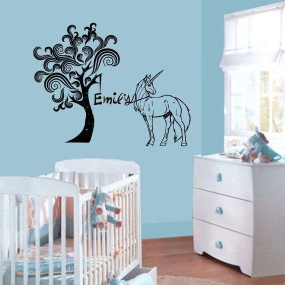 Items similar to Personalized Name Decal Nursery Room Wall ...