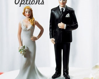 Personalized Wedding Cake Topper - Wedding Couple - Big and Tall Groom - Curvy Bride - Curvy and Burly Bride and Groom - Weddings