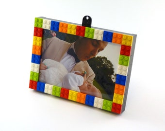 Picture frame made of Lego bricks
