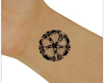 Flower Temporary Tattoo 2  Wrist Tattoos