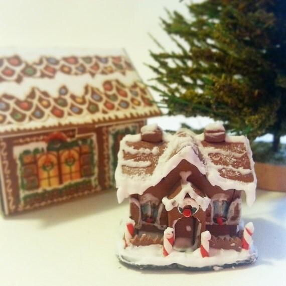 Miniature Gingerbread House / Christmas Miniature Scale 1:12