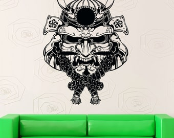 samurai mask etsy fr. Black Bedroom Furniture Sets. Home Design Ideas