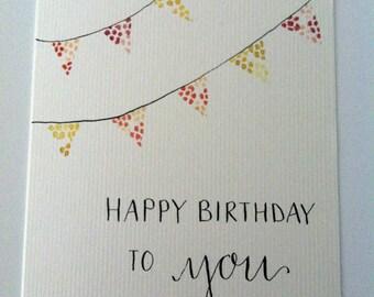 Happy Birthday Pennant Greeting Card