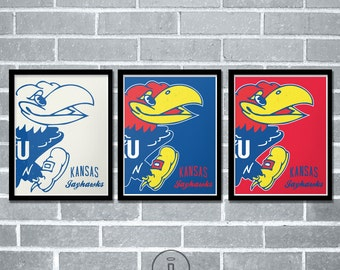 Kansas Jayhawks Graphic Print - University of Kansas Jayhawk Poster