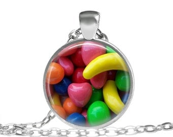 Childhood Candy Necklace Candy Sweet Childhood Necklace Candy Photo (ZM0162)