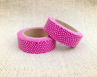 Pink Arch Dots Washi Tape, Japanese Masking Tape