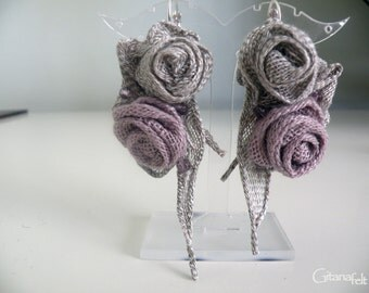 Exclusive Linen earrings