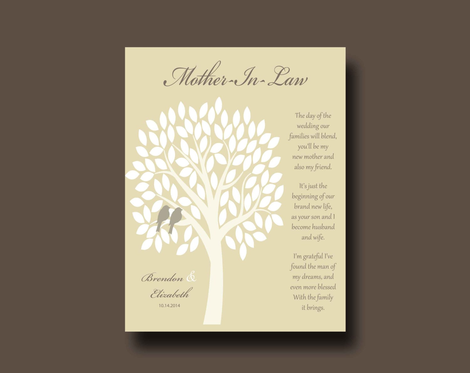 Future Mother In Law Gifts: MOTHER IN LAW Gift Thank You Print Mother Of Bride Gift