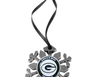 Green Bay Packers Snowflake Christmas Ornament