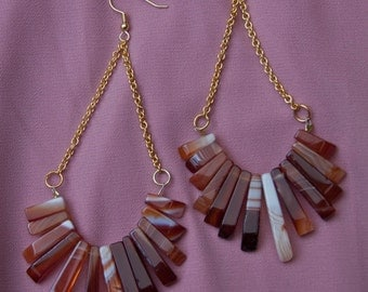 Agate Chandelier Earrings
