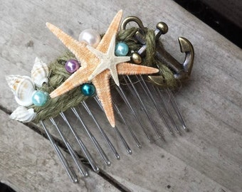 Starfish Mermaid Comb
