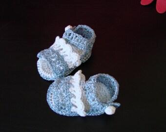 Blue sparcle sandals.