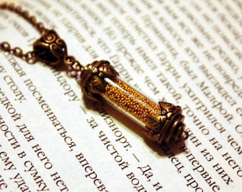 Hogwarts Hufflepuff House Points Glass Vial Bottle Pendant Necklace. Harry Potter