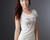 ELEPHANT Tshirt Bamboo T shirt Organic Cotton Clothing Womens Graphic Tee Womens T-shirt Women Top Womens Shirt
