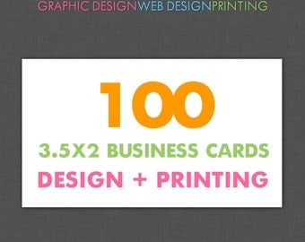 Business Card Printing Services, 100 Business Cards Printed, Business Card Design, Business Card Print, Printed, Custom, Glossy, Matte