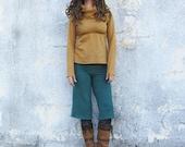 ORGANIC Simplicity Fleece Gauchos (organic hemp and cotton fleece ) Organic Hemp Gauchos