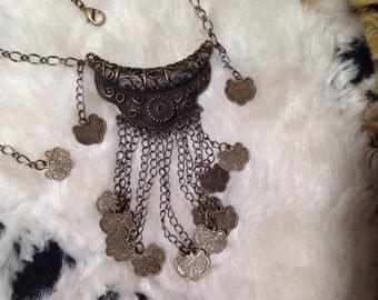 Dragon Phoenix Coin Necklace