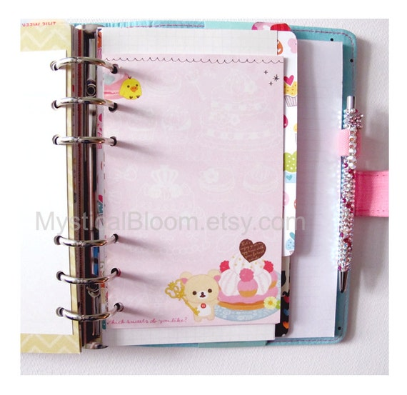 Clean image in cute planner refills