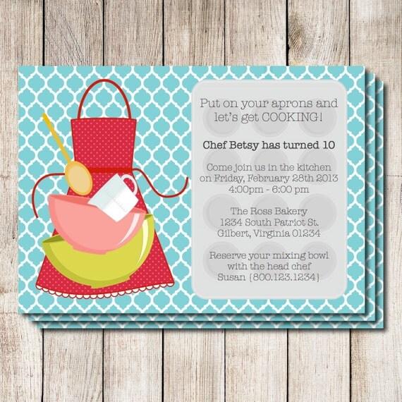 Party-Einladung Party Einladung druckbare Kochen von Greencard