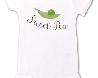 sweet pea bodysuit - new baby gift, pregnancy announcement