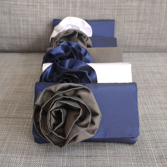 Bridesmaid clutch gifts custom made in your color scheme
