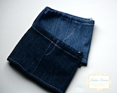 Two Denim mini skirts for American Girl one light and one dark denim