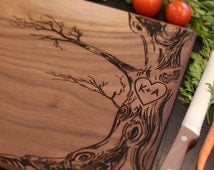 Personalized Cutting Board Newlyweds Christmas Gift Bridal Shower Gift Wedding Gift Engraved Love Tree (Item Number MHD20019)
