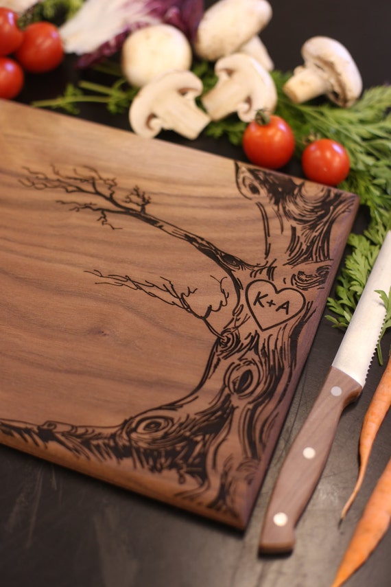 Personalized Cutting Board Newlyweds Christmas Gift Bridal