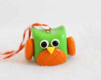 Handmade Polymer Clay Owl Ornament