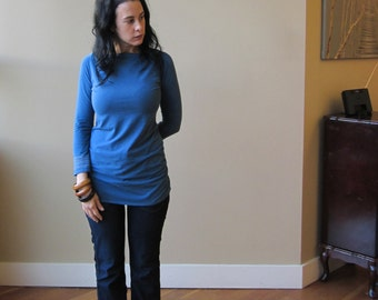 SALE, Medium- Bracelet Top, Long Sleeve, Bamboo Jersey, Eco Fashion, Modern Style