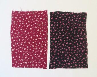 Vintage 1920s Fabric 20s Fabric / 1930s Fabric 30s Fabric / Silk Fabric Dress Fabric Salesman Sample Set / Art Deco Print / Pink