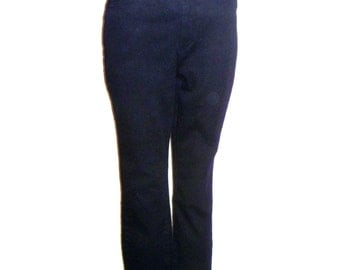 Vintage 90's High-Waisted Skinny Jeans in Black with No Pockets in Back Women's Size Large