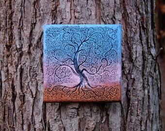 Tree Of Life Gift Outdoor Wall Art, Sunset Art, Tree Sculpture, Garden Art