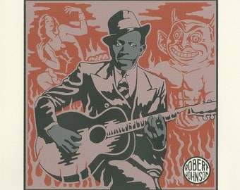 Robert Johnson (Me And The Devil Blues Print)