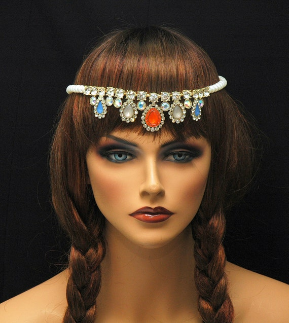 bohemian jewelry teardrop headpiece hair by