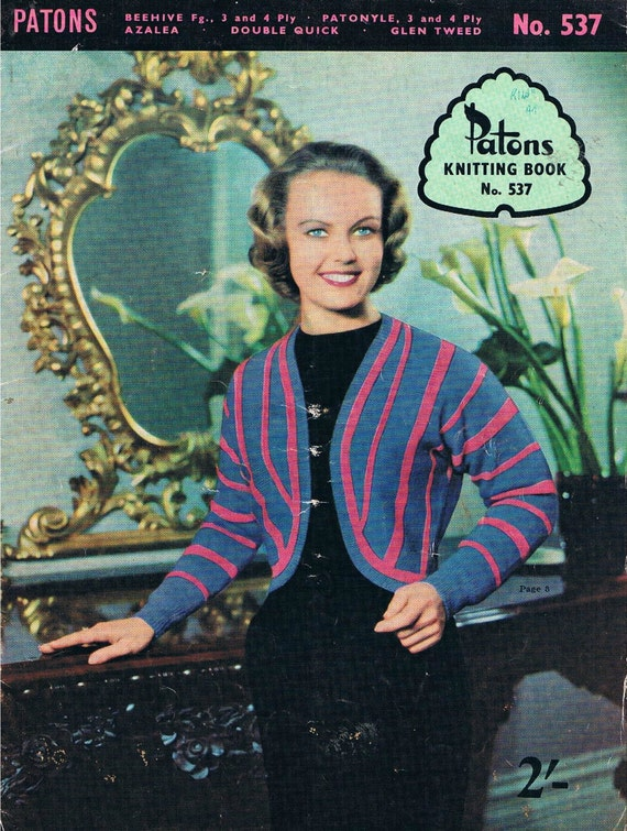 People Knitting Book : Vintage patons knitting book no